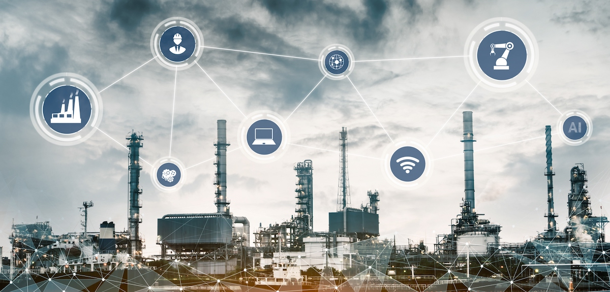 Industry 4.0 technology concept - Smart factory for fourth industrial revolution