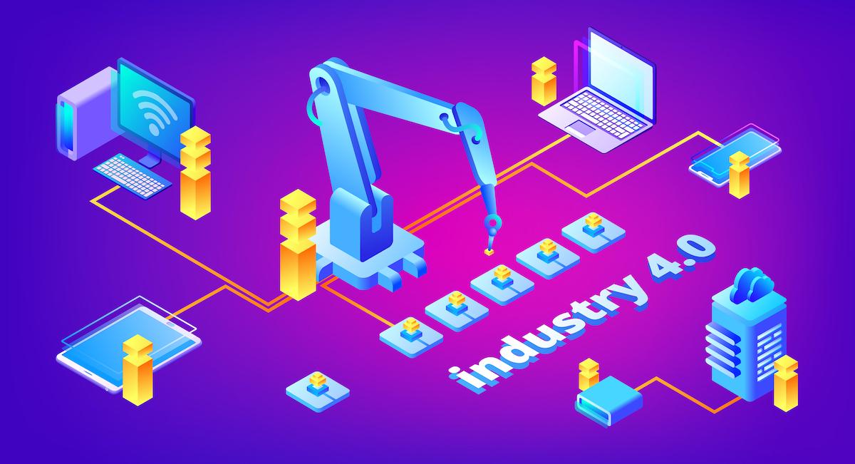 Industry 4.0 technology vector illustration