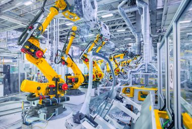 robots in a car plant