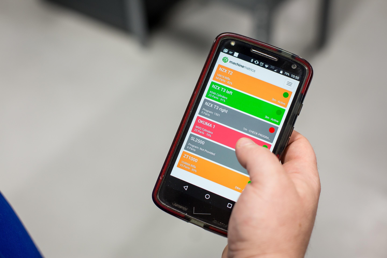 machine monitoring on phone
