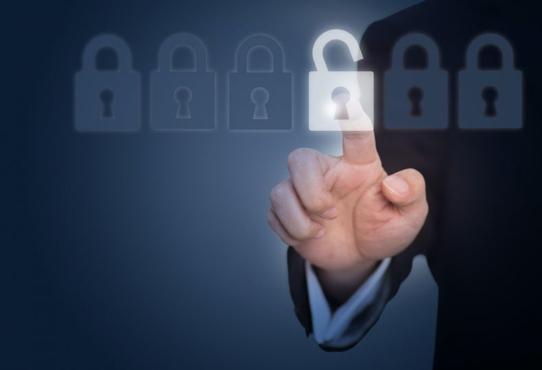 businessman-unlocking-a-lock-on-the-touch-screen