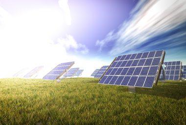 solar cells syetem 3d rendering