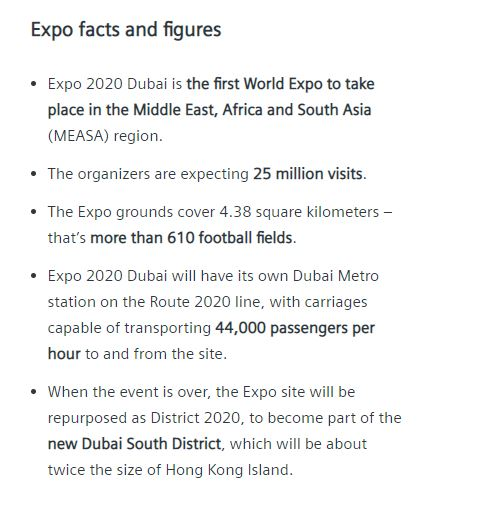 expo facts and figures