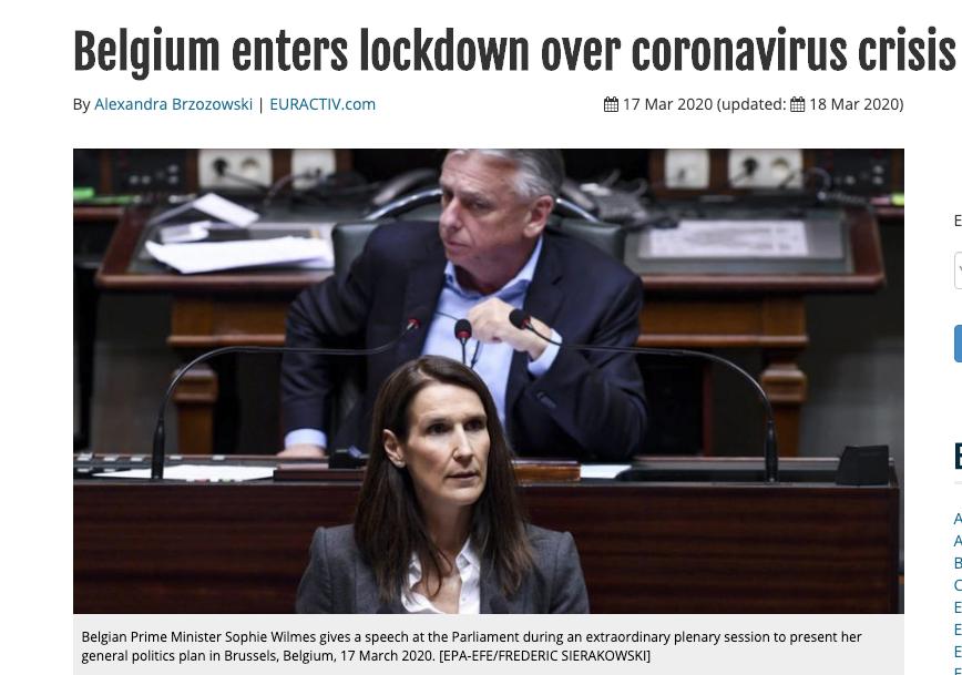 Belgium enters lockdown