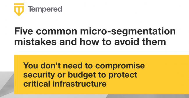 Micro segmentation mistakes & security image